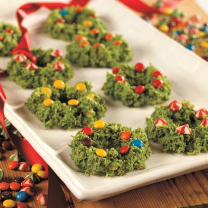 Frosted Christmas Wreath Cookies Cookierecipes Com